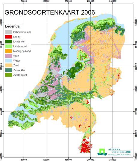 Bodemkaart Nederland (born; fruitbomen.net)